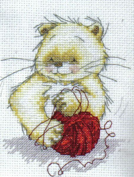 Solo The Cat Ball Of Wool Cross Stitch Kit